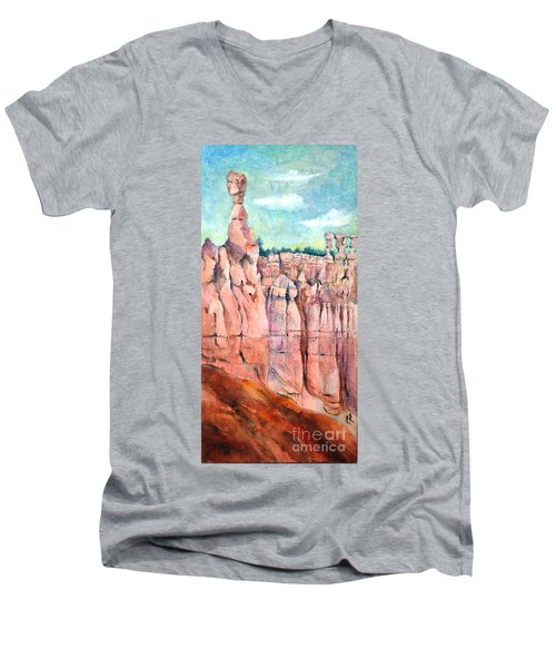 Bryce Canyon #1  Men's V-Neck T-Shirt by Betty M M Wong
