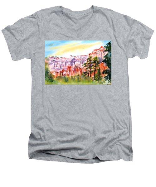 Bryce Canyon #3 Men's V-Neck T-Shirt by Betty M M Wong