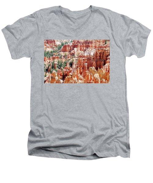 Bryce Canyon Hoodoos Men's V-Neck T-Shirt by Nancy Landry