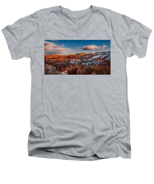 Bryce Sunset Men's V-Neck T-Shirt