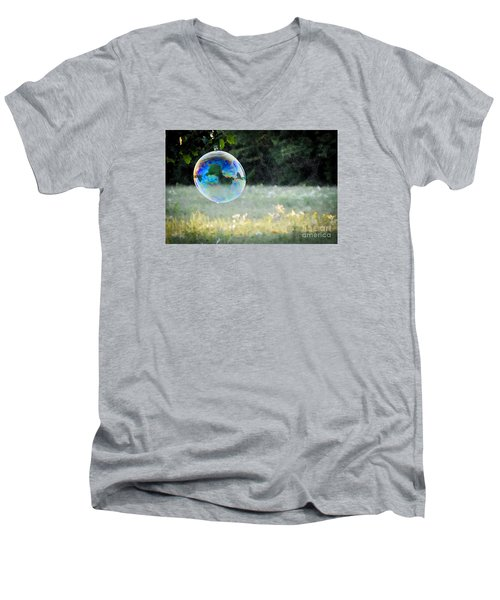 Bubble Men's V-Neck T-Shirt by Cheryl McClure