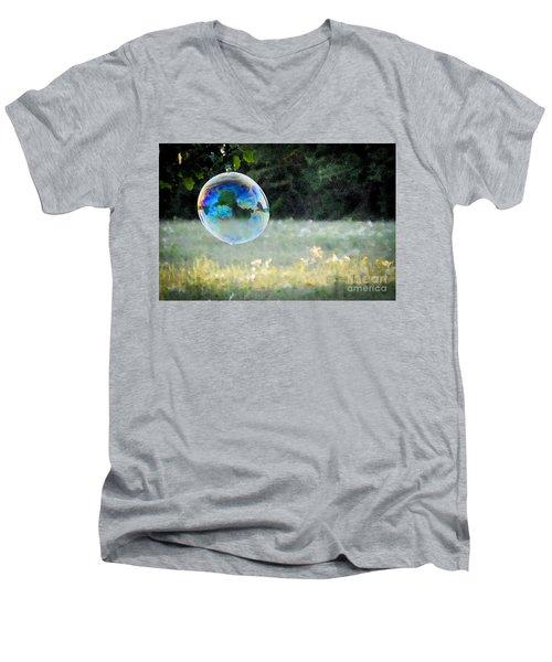 Bubble Men's V-Neck T-Shirt