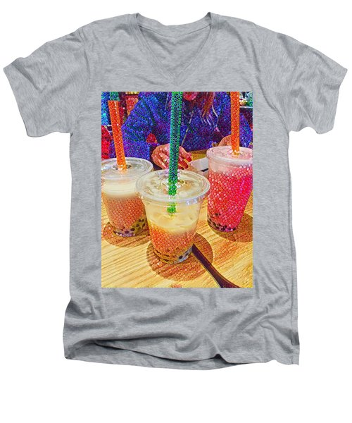 Bubble Tea For Three Men's V-Neck T-Shirt