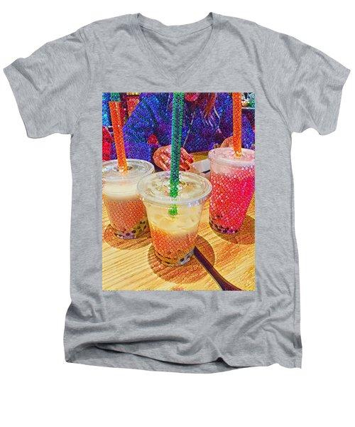 Bubble Tea For Three Men's V-Neck T-Shirt