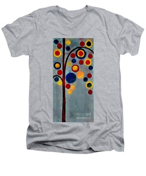 Bubble Tree - Dps02c02f - Right Men's V-Neck T-Shirt by Variance Collections