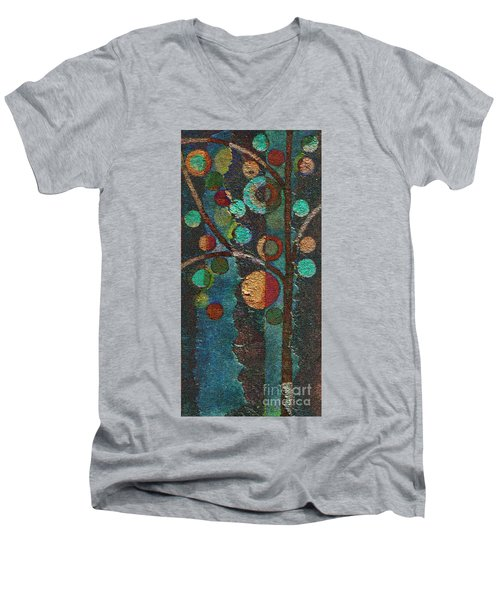 Bubble Tree - Spc02bt05 - Left Men's V-Neck T-Shirt by Variance Collections