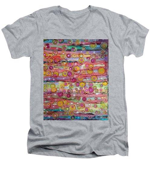 Bubble World Men's V-Neck T-Shirt