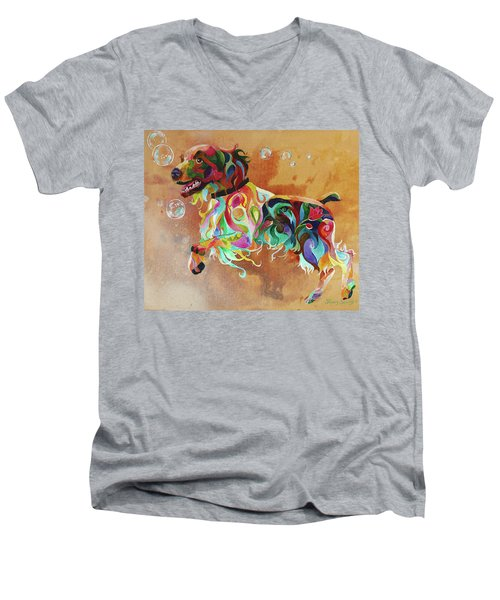 Bubbles  English Springer Men's V-Neck T-Shirt