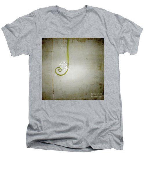 Men's V-Neck T-Shirt featuring the digital art Bubbling - 02tt04a by Variance Collections