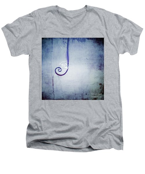 Men's V-Neck T-Shirt featuring the digital art Bubbling - 033a by Variance Collections