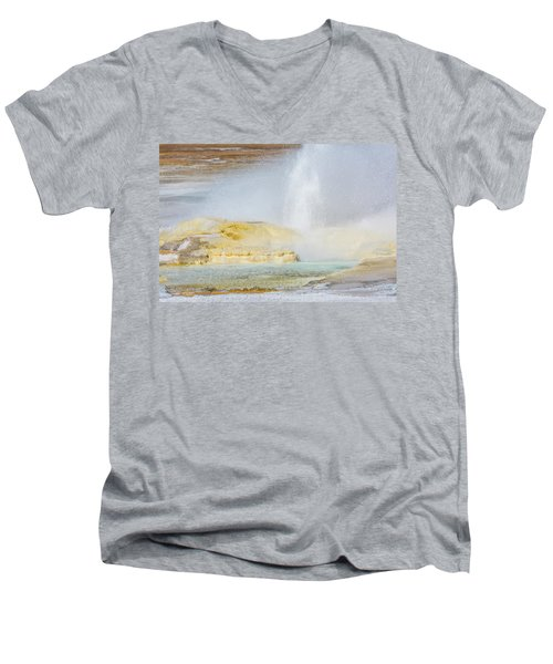 Men's V-Neck T-Shirt featuring the photograph Bubbling Earth by Colleen Coccia