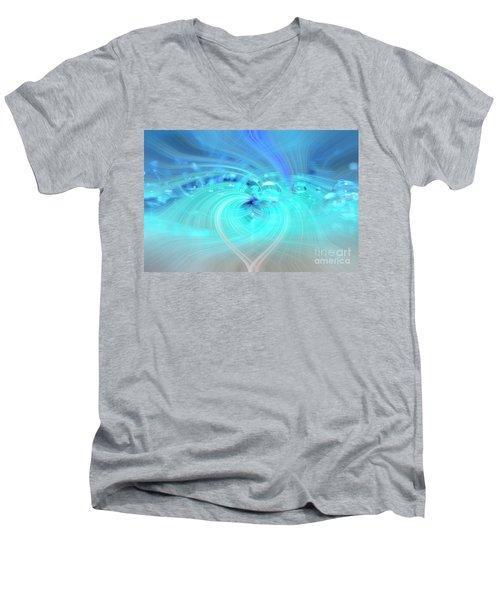 Bubbly Heart Men's V-Neck T-Shirt