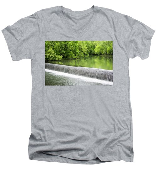 Men's V-Neck T-Shirt featuring the photograph Buck Creek Greens by Parker Cunningham