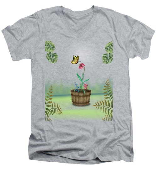 Bucket Butterfly 1 Men's V-Neck T-Shirt