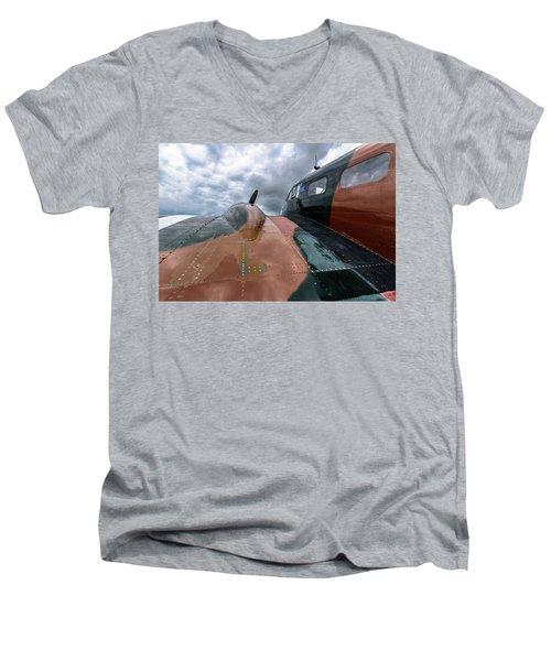 Bucket Of Bolts Men's V-Neck T-Shirt by Randy Scherkenbach