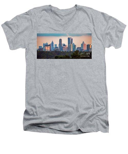 Buckhead Atlanta Skyline Men's V-Neck T-Shirt
