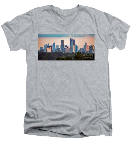 Buckhead Atlanta Skyline Men's V-Neck T-Shirt