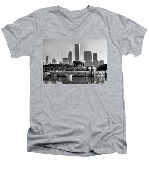 Buckingham Fountain - 2 Men's V-Neck T-Shirt