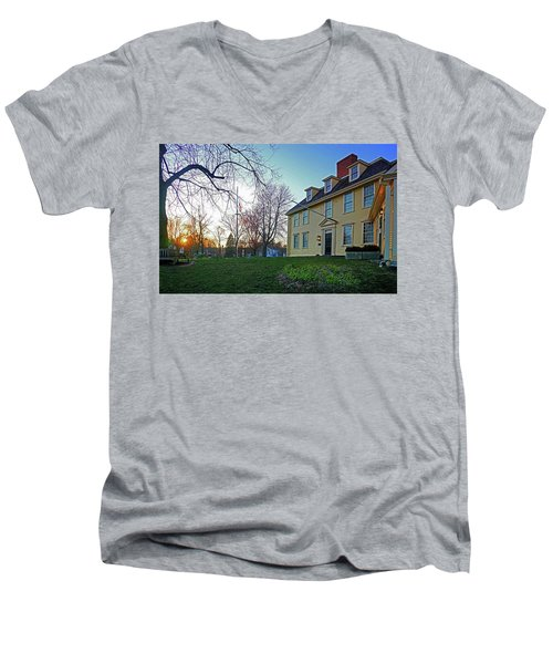 Buckman Tavern At Sunset Men's V-Neck T-Shirt