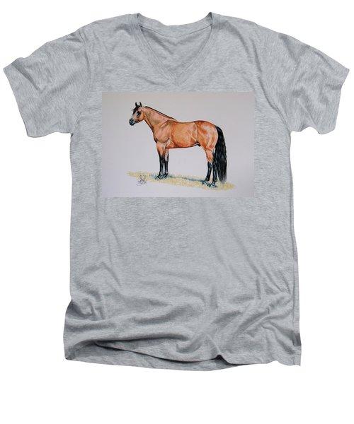 Buckskin Beauty Men's V-Neck T-Shirt by Cheryl Poland