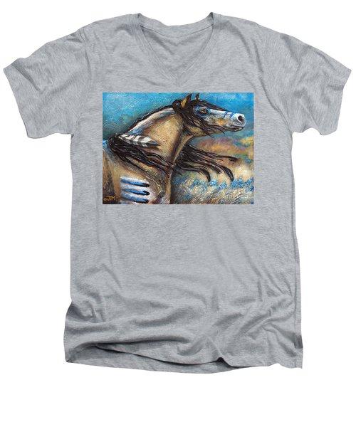 Buckskin Bell Blues Men's V-Neck T-Shirt