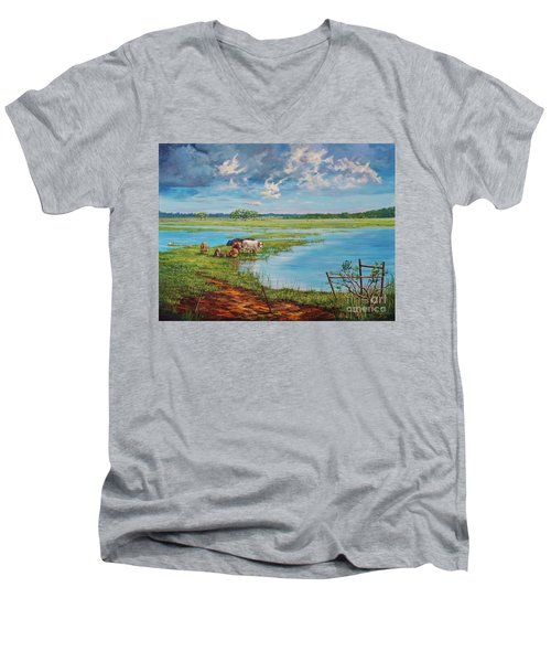 Bucolic St. John's Men's V-Neck T-Shirt