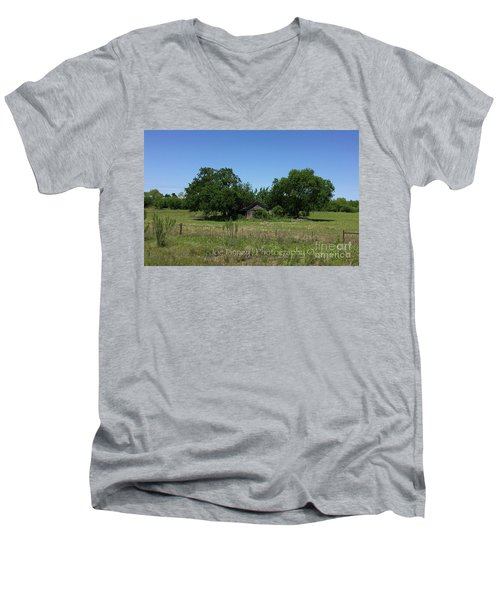 Men's V-Neck T-Shirt featuring the photograph Buda Sweet Home - #42116 by Joe Finney