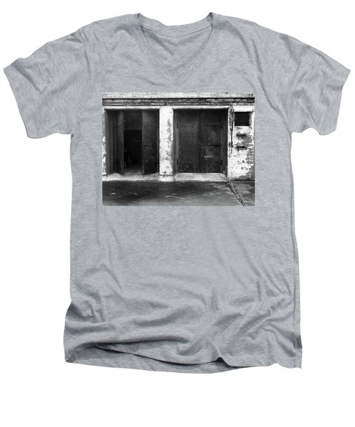 Men's V-Neck T-Shirt featuring the photograph Buddha 2 by Laurie Stewart