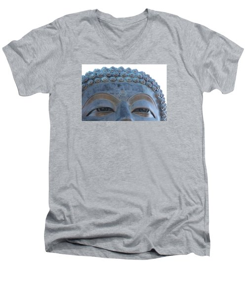 Buddha Eyes, Ngong Ping Village, Hong Kong Men's V-Neck T-Shirt