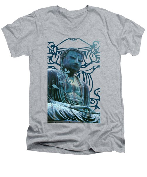 Buddha Great Statue Men's V-Neck T-Shirt