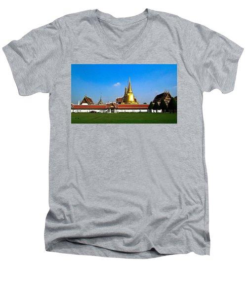 Buddhaist Temple Men's V-Neck T-Shirt