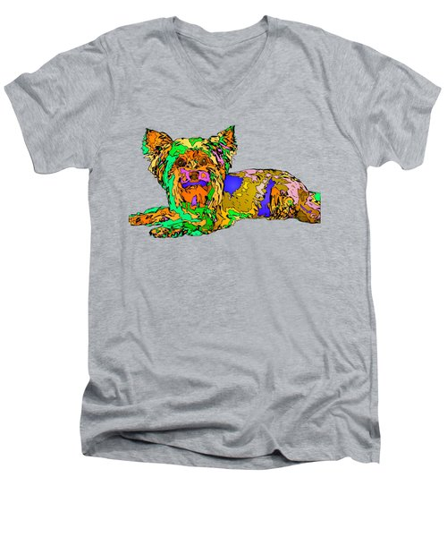 Buddy. Pet Series Men's V-Neck T-Shirt