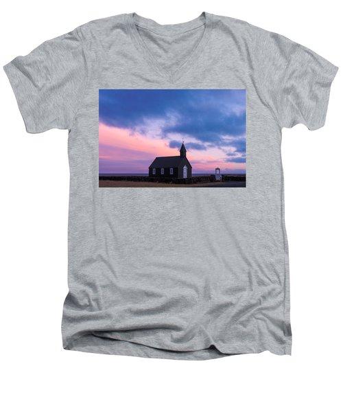 Budir Black Church Men's V-Neck T-Shirt