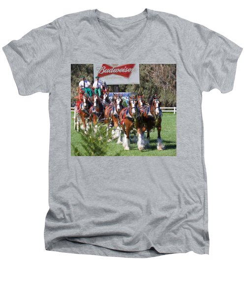 Budweiser Clydesdales Perfection Men's V-Neck T-Shirt