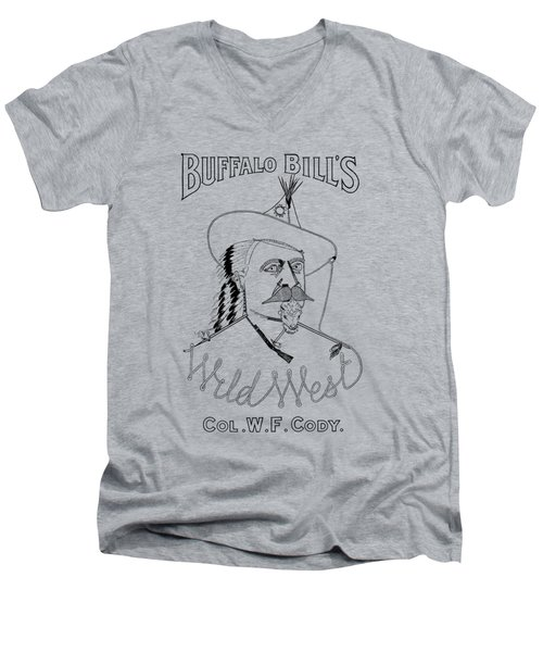 Buffalo Bill's Wild West - American History Men's V-Neck T-Shirt by War Is Hell Store