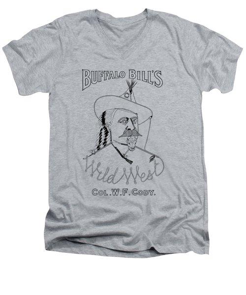Buffalo Bill's Wild West - American History Men's V-Neck T-Shirt