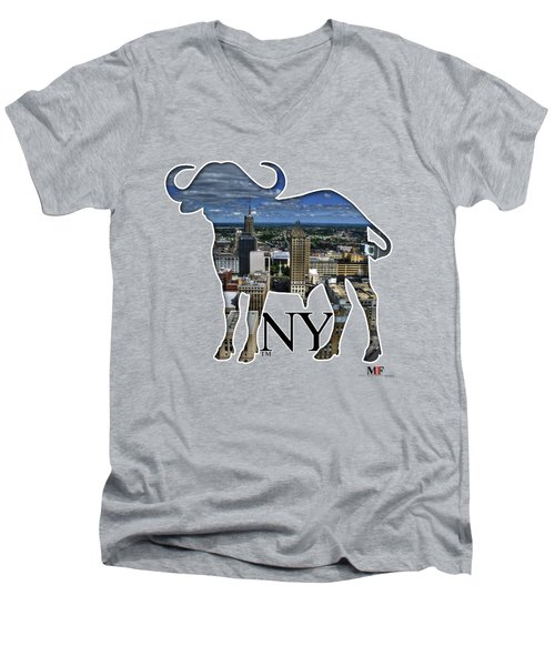 Buffalo Ny Court St Men's V-Neck T-Shirt