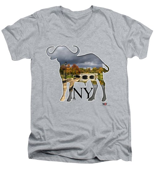 Buffalo Ny Hoyt Lake Men's V-Neck T-Shirt by Michael Frank Jr