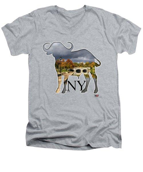 Buffalo Ny Hoyt Lake Men's V-Neck T-Shirt