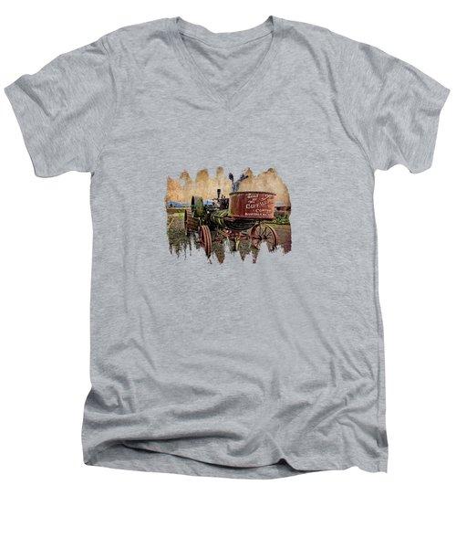 Buffalo Pitts Men's V-Neck T-Shirt by Thom Zehrfeld