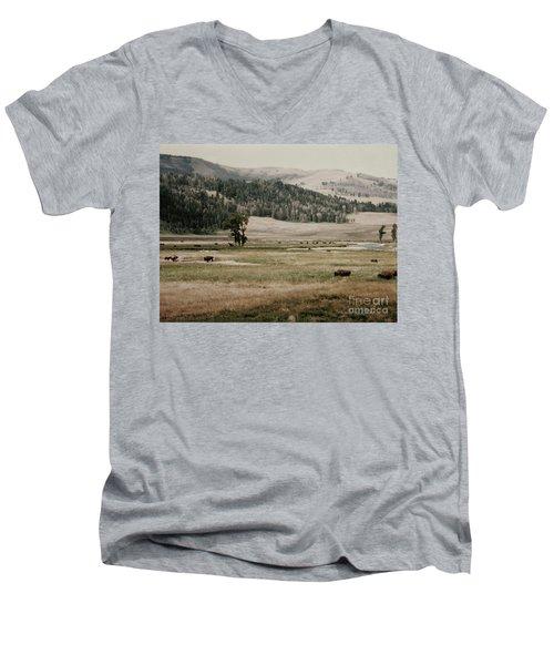 Buffalo Roam Men's V-Neck T-Shirt