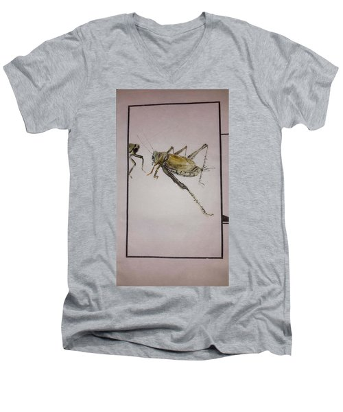 Bugs And Blooms Album Men's V-Neck T-Shirt by Debbi Saccomanno Chan