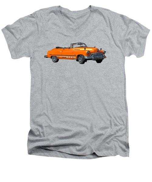 Buick Art In Orange Men's V-Neck T-Shirt
