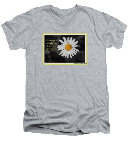 Build A Child Up Men's V-Neck T-Shirt