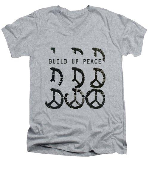 Build Up Peace Ll Men's V-Neck T-Shirt