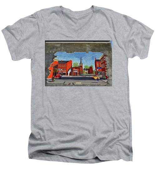 Building Mural - Cuba New York 001 Men's V-Neck T-Shirt