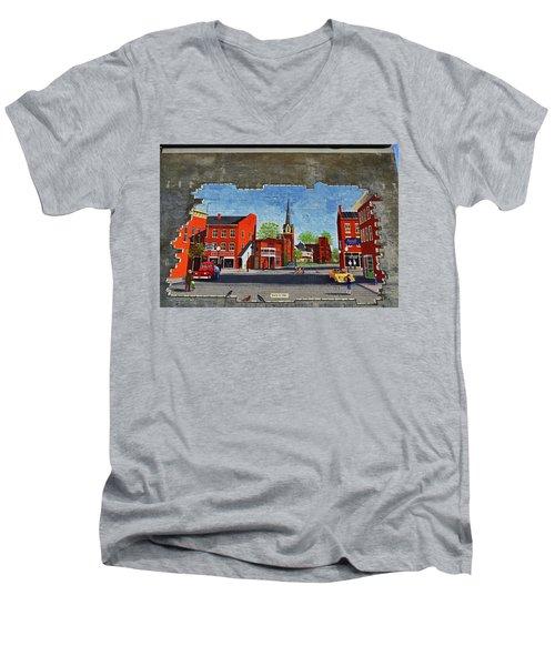 Building Mural - Cuba New York 001 Men's V-Neck T-Shirt