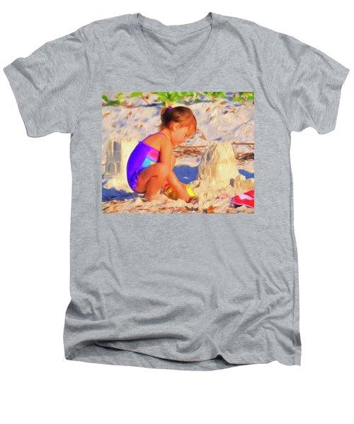 Building Sand Castles Men's V-Neck T-Shirt