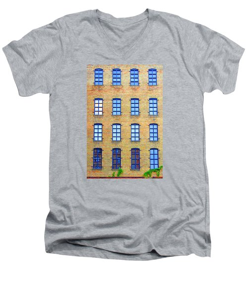 Building Windows Men's V-Neck T-Shirt