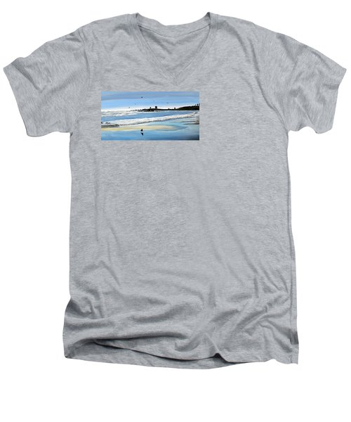 Bull Beach 2 Men's V-Neck T-Shirt